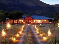 Samara Karoo Lodge Exterior by Night