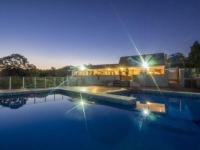 madison Manor Pool at Night