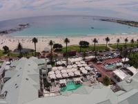 The Bay Hotel Aerial View showing beach