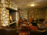 Agulhas Country Lodge Lounge and Fireplace