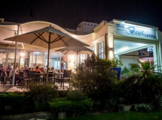 Beach Hotel Verandah Restaurant at Night