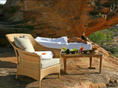 Bushmans Kloof Spa Treatment Outdoors