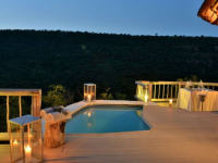 Clifftop Safari Lodge Suite Deck at Night