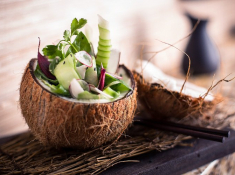Delaire Graff Indochine Spring Coconut Salad