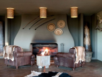 Gondwana Kwena Lodge Bar Fire Place
