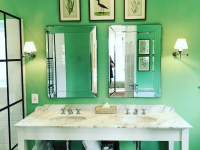 La Cotte Orchard Cottages Green Bathroom Cottage 3