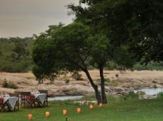 Mjejane River Lodge Riverside Meal