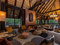 Little Bush Camp Central Lounge Fireplace