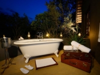 Sabi Sabi Selati Suite Outdoor Bath at Night