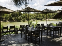 Simbavati River Lodge Deck Dining