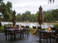 Simbavati River Lodge Outdoor Dining