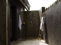 Simbavati River Lodge Outdoor Shower
