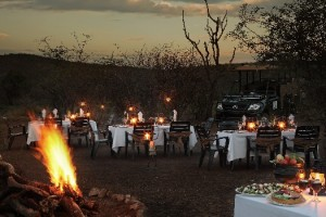 Bush Dinner at Ivory Tree game Lodge, PIlanesberg