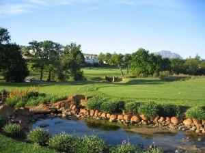 Kleine Zalze Lodge, views from 1st tee