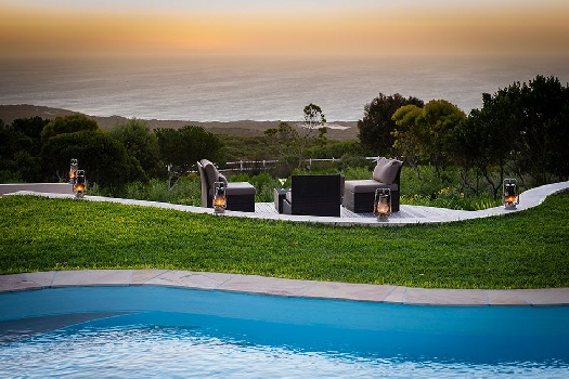 Grootbos Garden Lodge View from Pooldeck