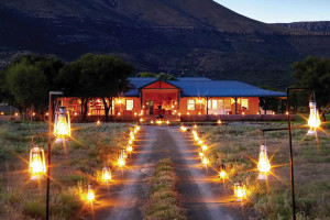 Samara Karoo Lodge Exterior by Night