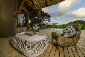 The Deck of an Ocean View Suite at Thonga Beach Lodge