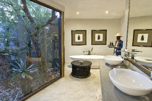 Luxury bathrooms and bath tubs at south african getaways for South african bathroom designs