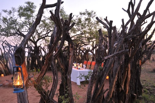Outdoor boma meal at Kwafubesi