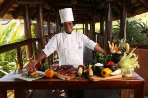 Groups love Jozini's buffet-style meals out in the boma at night