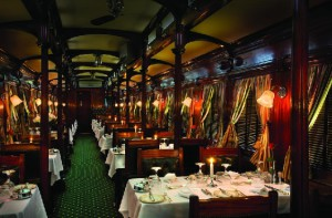 Luxurious wining and dining on Rovos Rail on a luxury rail trip through South Africa