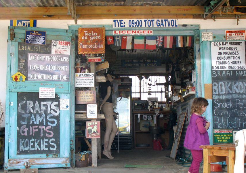 Tourist shops at Velddrif on the Cape West Coast