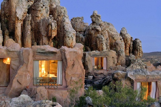 Unique holiday accommodation Western Cape Kagga Kamma cave rooms Cederberg South