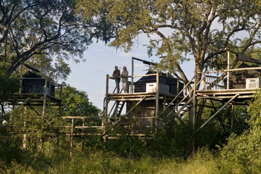 Unique holiday accommodation South Africa sleepout deck Plains Camp Kruger National Park