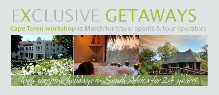 Exclusive Getaways Travel Workshop in Cape Town 2015