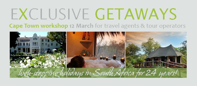 Exclusive Getaways Travel Workshop in Cape Town 2015