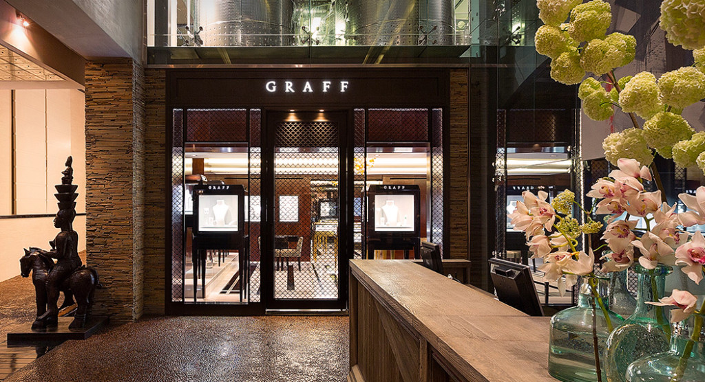 Graff Diamonds shopping salon at Delaire Graff Lodges in Stellenbosch