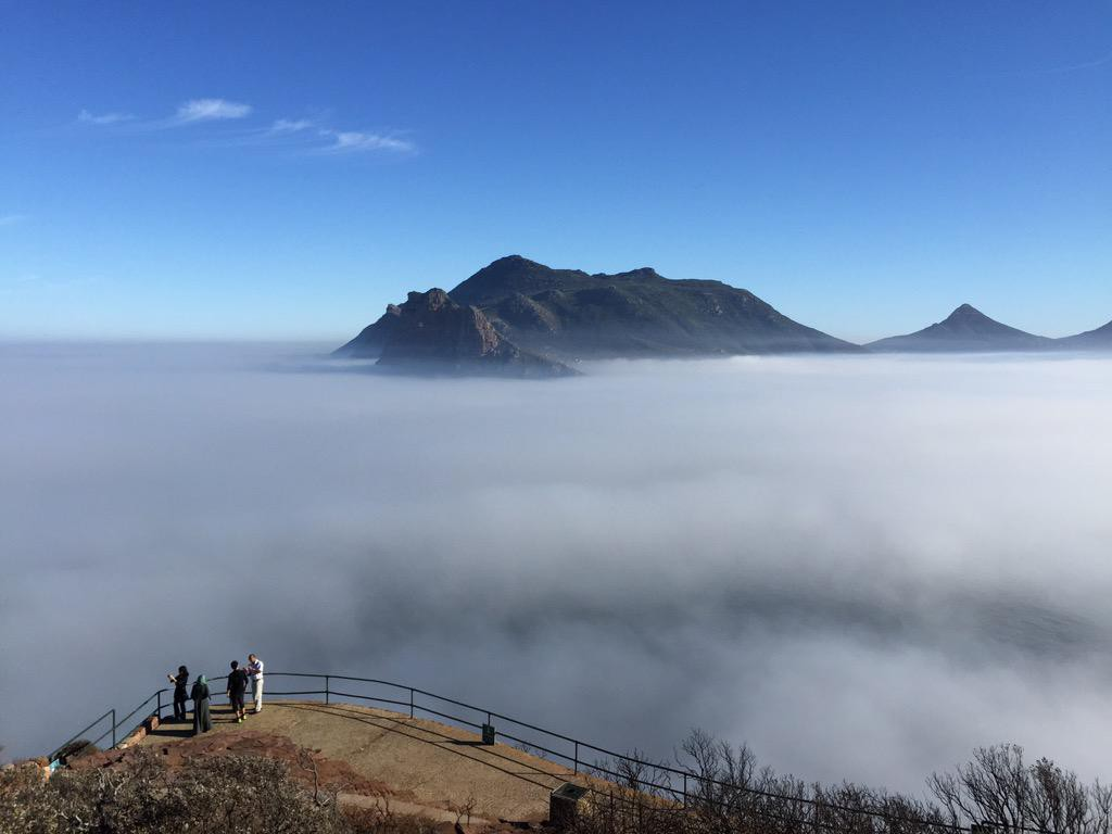 Mist rolls in at Chapmans Peak. Shared by  @DCTours_za #TravelChatSA