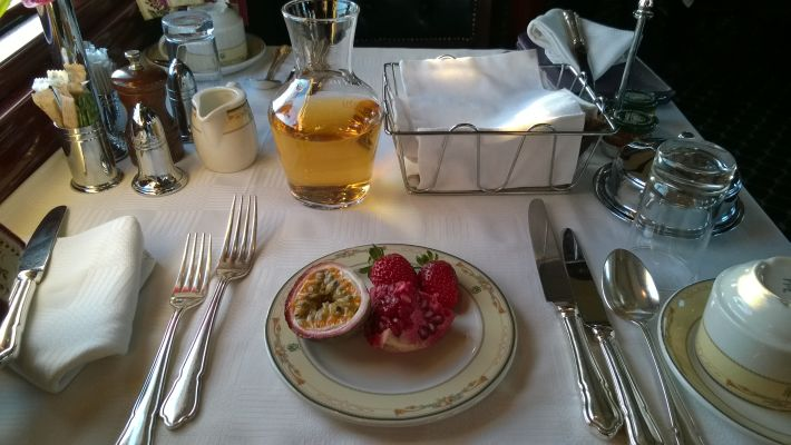 We loved it that breakfasts included plenty of fresh fruit, as well as a selection of freshly prepared hot meals