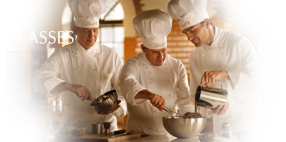 The Lindt Maestros teach some wonderful secrets at their chocolate classes