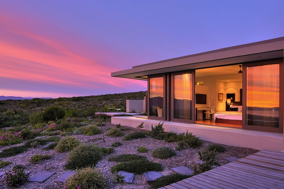 Grootbos Villa is a stunning coastal hideaway for up to twelve guests. Villa guests have access to their own vehicle for nature activities, as well as a private chef. Included in the rates are fabulous guided excursions and a memorable food experience that includes 5-course dinners. It's an exclusive experience of the Western Cape's whale and fynbos coast.