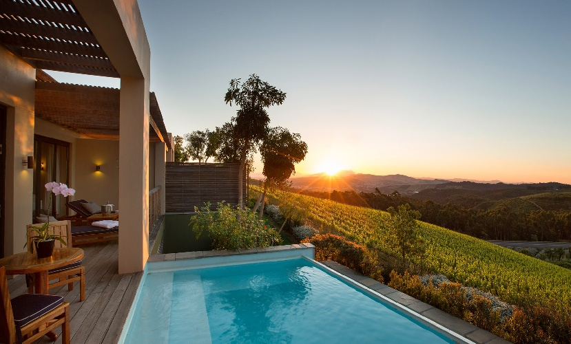 exclusive holiday accommodation Stellenbosch winelands