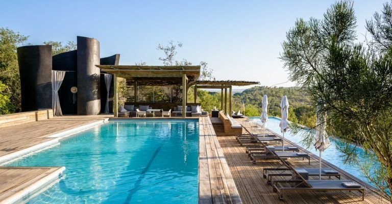 luxury hilltop and clifftop safari lodges South Africa