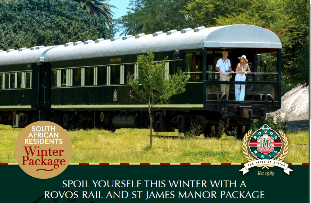 Rovos Rail: Special Offer on Luxury Train Journey Plus One Night at St James Manor in Cape Town