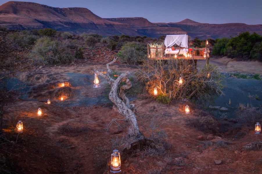 A Milky Way Star Bed on Safari at Samara Private Game Reserve South Africa
