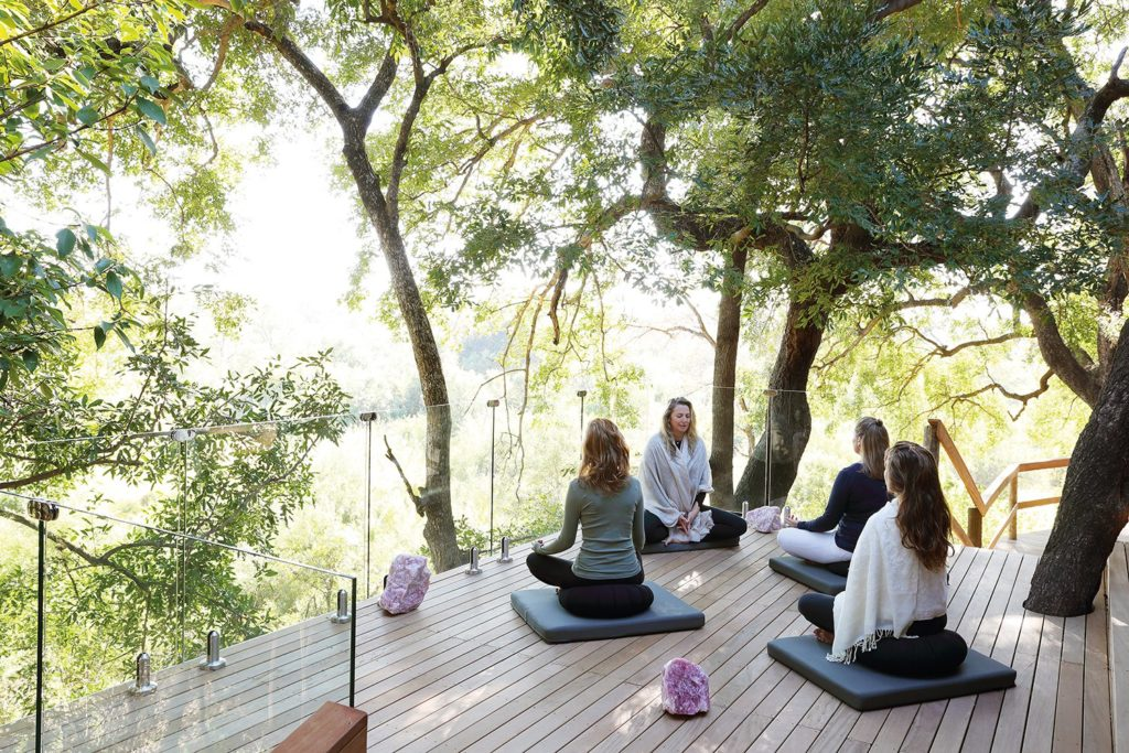 healing therapies yoga on safari londolozi healing house