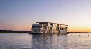 zambezi queen floating hotel on chobe river